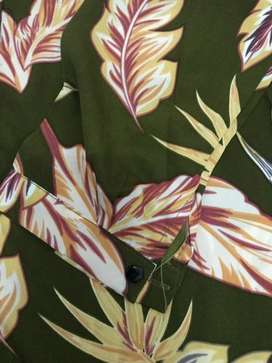 blouse floral green