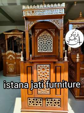 Mimbar masjid Mimbar minimalis model terbaru