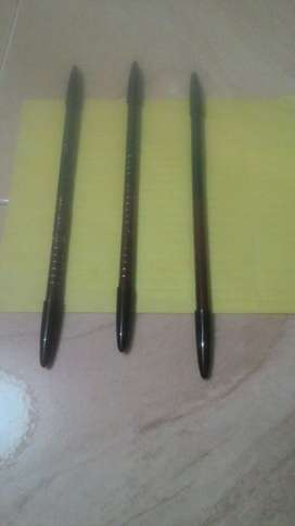 pensil alis kiss 2in1 hitam-coklat