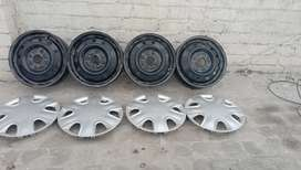Wagon r rims and wheel cups