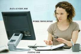 Typing work data entry work and work at home