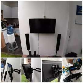 Pasang bracket Dudukan tv di dinding, ukuran 15inc-70inc