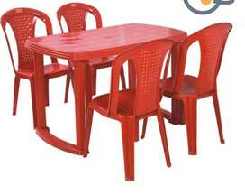 Plastic chair nd table set for restaurant