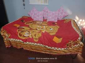 Iron bed with mattress for sale