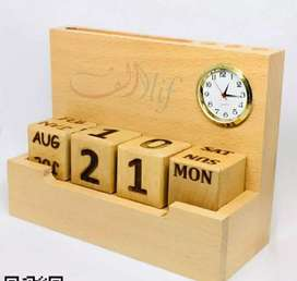 Office Table Calendar, Card Holder, Pen Holder (All in One)