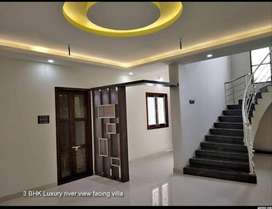 Hot location - 3 Bedroom luxury river view villa for sale in palakkad