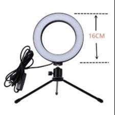 Lampu Halo Ring Light LED Kamera 8W 6 Inch with Mini Tripod