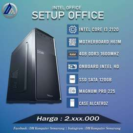 PC Rakitan Office Intel I3 2120 RAM 4GB DDR3 SSD 120GB Ready