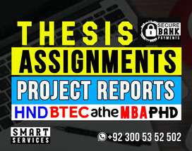 ►ACADEMIC WRITING ►THESIS Proofread►Assignments►HND MBA Project Report