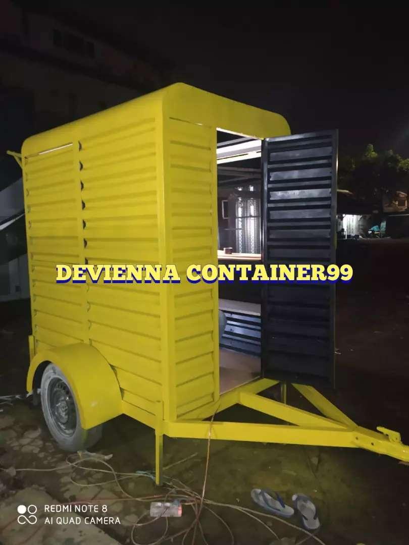 Modifikasi booth Container untuk usaha kekinian anda semi container 0