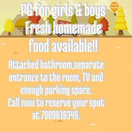 PG for rent girls & boys