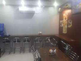 Furnished ready to move cafe/food joint
