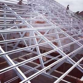 Atap rumah sekarang pakai baja ringan boss  lebih awet dan terjangkau