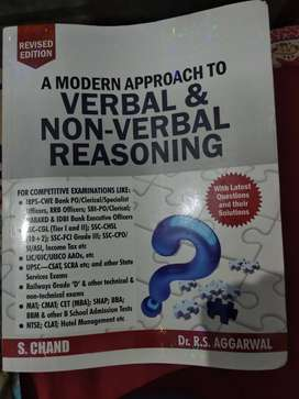 Verbal and Non- Verbal Reasoning By Dr. R.S. Aggarwal