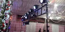 Dj led lights dmx xlr stand