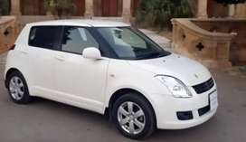 Car availabel for rent suzuki swift 2013 model with driver daily bases