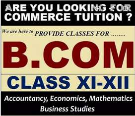 Classes for BCom 1 to 3 years. All subjects