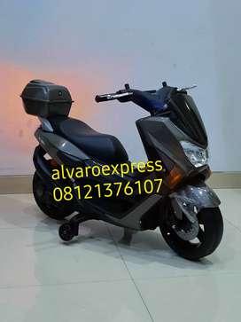 Motor Mainan Aki PMB M 588 RAID Mdl Seperti Motor Matic  Grey