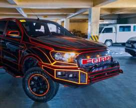 rockerbar ford ranger lampu led kotak