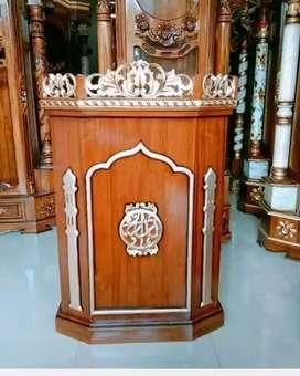 Mimbar masjid jati podium