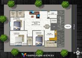 Induvidual floor flat for sale near MVP