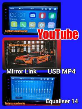 Tv 7 inch inci in avi dhd YouTube doubledin USB for paket sound audio