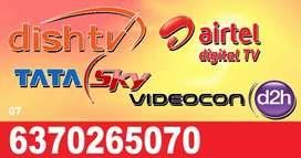 AIRTEL ! VIDEOCON D2H ! DTH CONNECTION ! TATA SKY,  DISH TV