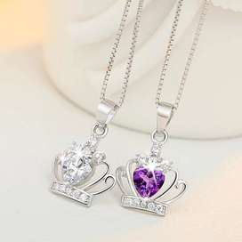 Crown Necklace/Pendant with Charming Zircons