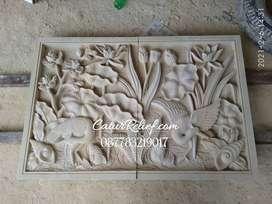 Relief ornamen ukiran batu alam