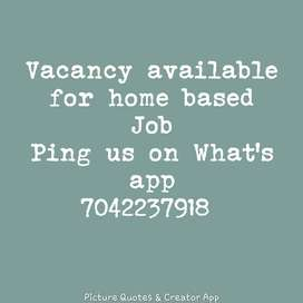 part time english typing home based job available
