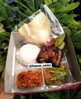 Nasi Boxs Dapoer Winka Lampung ( ayam bakar madu)