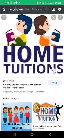 Need home tutors . Area:- dadar east ; dahisar east ; miraroad; khrgr;