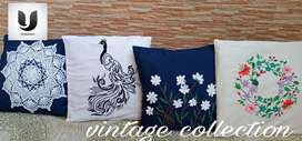 Cushion covers hand embroidery