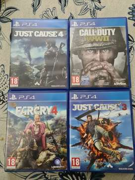 PS4 GAMES Just Cause 4, COD WW2, Just Cause 3, Far Cry 4 - PS4 GAMES
