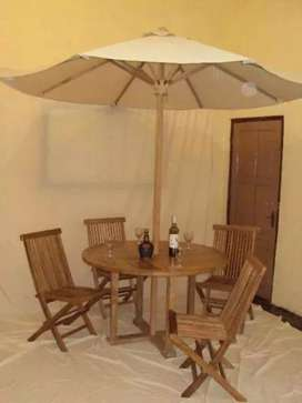 Meja payung cafe,vila, resto, tempat wisata, kantin, outdoor