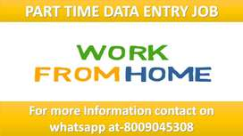 Guaranteed Typing job Part Time Data Entry Job Home based work Basic C