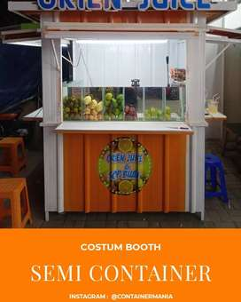 Costum Booth, Semi Container, Stand Booth Indoor dan Outdoor