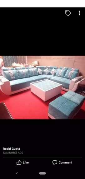 Corner sofa, cum bed sofa, L size sofa
