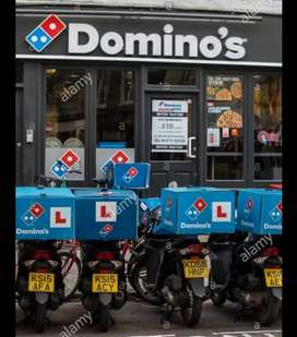 Urgent hiring in domino's pizza delivery boy