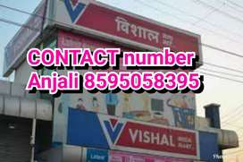 Need 25 candidate girls and boys Vishal mega mart