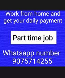 Typing work and mobile work with daily payment