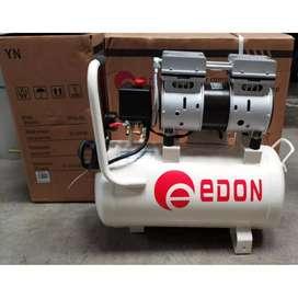 EDON Kompresor Oiles 0.75HP 25L Silent Oiless Compressor Oilless baru