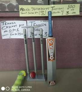 Cricket kit. & Tennis balls.