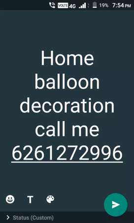 Home balloon  decoration