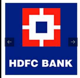 Needs for employees in hdfc bank male candidate