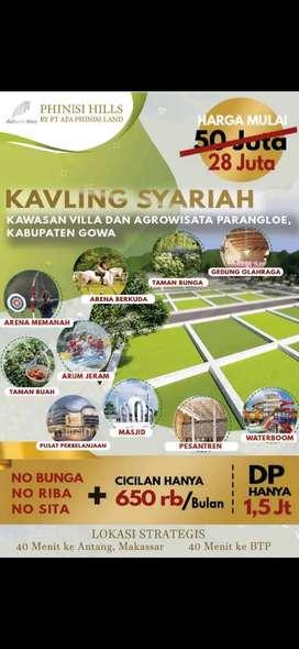 Tanah Kavling Syariah PROMO CUMA 28JTAAN