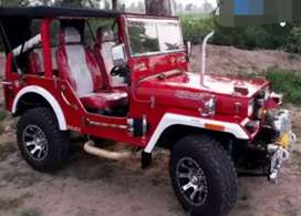 Open Red modified Willy jeep