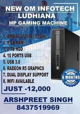 HP ELITE/AMD A6/2TB HDD/8GB RAM/USB 3.0/RADEON R5 GRAPHICS/WIFI ALSO