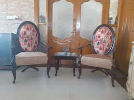 Sheesham chairs pair  with  table