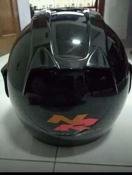 Monggo helm full face hitam Suzuki Night Rider Edition